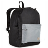 #2045CB-BLACK GRAY Wholesale Classic Color Block Backpack - Case of 30