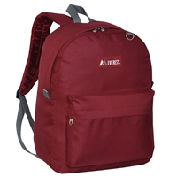 #2045CR-BURGUNDY Wholesale Backpack - Case of 30