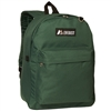 #2045CR-DARK GREEN Wholesale Classic Backpack - Case of 30 Backpacks