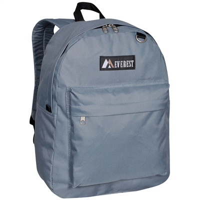 #2045CR-DARK GRAY Wholesale Classic Backpack - Case of 30 Backpacks