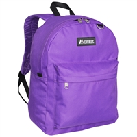 #2045CR-DARK PURPLE Wholesale Classic Backpack - Case of 30 Backpacks