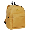 #2045CR-GOLD YELLOW Wholesale Classic Backpack - Case of 30 Backpacks