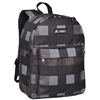 #2045P-CHARCOAL/GRAY PLAID Wholesale Classic Pattern Backpack - Case of 30