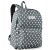 #2045P-GRAY/WHITE DOT Wholesale Classic Pattern Backpack - Case of 30 Backpacks