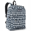 #2045P-NAVY/WHITE ETHNIC Wholesale Classic Pattern Backpack - Case of 30 Backpacks
