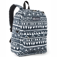 #2045P-NAVY/WHITE ETHNIC Wholesale Classic Pattern Backpack - Case of 30