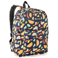 #2045P-TACOS Wholesale Classic Pattern Backpack - Case of 30