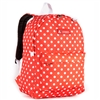 #2045P-TANGERINE/WHITE DOT Wholesale Classic Pattern Backpack - Case of 30 Backpacks