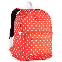 #2045P-TANGERINE/WHITE DOT Wholesale Classic Pattern Backpack - Case of 30