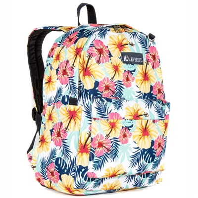 #2045P-TROPICAL Wholesale Classic Pattern Backpack - Case of 30 Backpacks