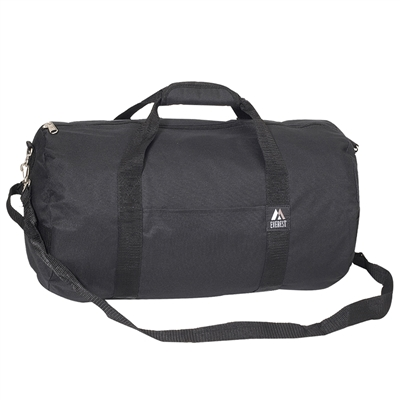 #20P-BLACK Wholesale 20-inch Round Duffel Bag - Case of 40