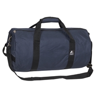 #20P-NAVY Wholesale 20-inch Round Duffel Bag - Case of 40 Duffel Bags