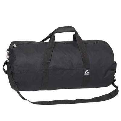#23P-BLACK Wholesale 23-inch Round Duffel Bag - Case of 40 Duffel Bags