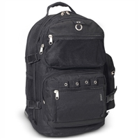#3045R-BLACK Wholesale Oversized Deluxe Backpack - Case of 20 Backpacks