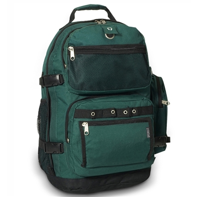 #3045R-DARK GREEN Wholesale Oversized Deluxe Backpack - Case of 20