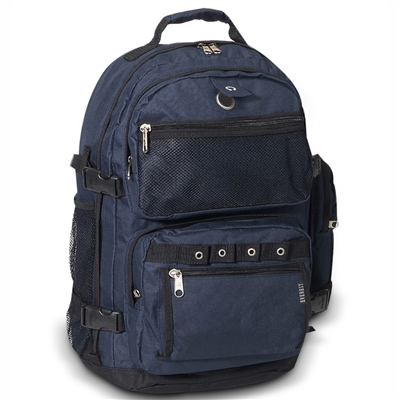 #3045R-NAVY Wholesale Oversized Deluxe Backpack - Case of 20