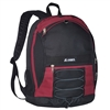#3045SH-BURGUNDY Wholesale Two-Tone Backpack - Case of 30