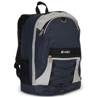 #3045SH-NAVY/GRAY Wholesale Two-Tone Backpack - Case of 30