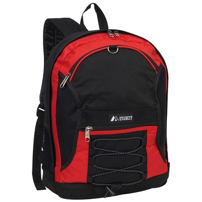 #3045SH-RED Wholesale Two-Tone Backpack - Case of 30