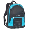 #3045SH-TURQUOISE Wholesale Two-Tone Backpack - Case of 30 Backpacks