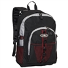 #3045W-BURGUNDY/GRAY/BLACK Wholesale Large Storage Backpack - Case of 30 Backpacks
