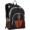 #3045W-ORANGE/GRAY/BLACK Wholesale Large Storage Backpack - Case of 30 Backpacks
