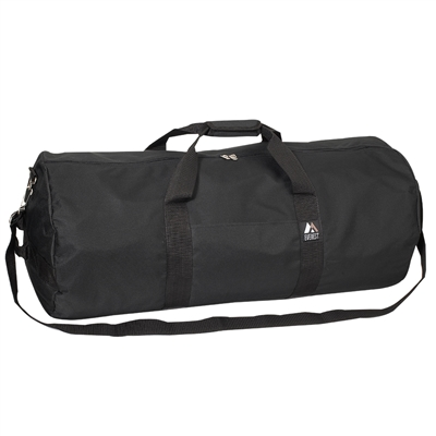 #30P-BLACK Wholesale 30-inch Round Duffel Bag - Case of 20 Duffel Bags