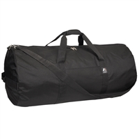 #36P-BLACK Wholesale 36-inch Round Duffel Bag - Case of 20 Duffel Bags