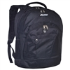 #4045CD-BLACK Wholesale Double Compartment Backpack - Case of 30