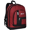 #5045-BURGUNDY Wholesale Double Main Compartment Backpack - Case of 30 Backpacks