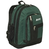 #5045-DARK GREEN Wholesale Double Main Compartment Backpack - Case of 30 Backpacks