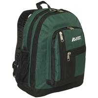 #5045-DARK GREEN Wholesale Double Main Compartment Backpack / Case (30 pcs)