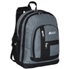 #5045-DARK GRAY Wholesale Double Main Compartment Backpack - Case of 30 Backpacks