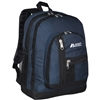 #5045-NAVY Wholesale Double Main Compartment Backpack - Case of 30