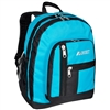 #5045-TURQUOISE Wholesale Double Main Compartment Backpack - Case of 30