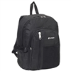 #5045SC-BLACK Wholesale Backpack with Front Mesh Pocket - Case of 30