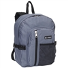 #5045SC-DARK GRAY Wholesale Backpack with Front Mesh Pocket - Case of 30 Backpacks