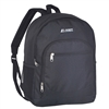 #6045-BLACK Wholesale Backpack with Side Mesh Pocket - Case of 30