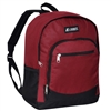 #6045-BURGUNDY Wholesale Backpack with Side Mesh Pocket - Case of 30 Backpacks