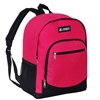 #6045-HOT PINK Wholesale Backpack with Side Mesh Pocket - Case of 30 Backpacks