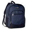 #6045-NAVY Wholesale Backpack with Side Mesh Pocket - Case of 30
