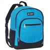 #6045-TURQUOISE Wholesale Backpack with Side Mesh Pocket - Case of 30