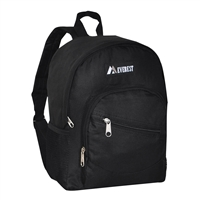 #6045S-BLACK Wholesale Mini Kids Slant Backpack - Case of 30 Backpacks
