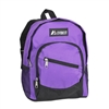 #6045S-DARK PURPLE Wholesale Mini Kids Slant Backpack - Case of 30