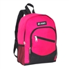 #6045S-HOT PINK Wholesale Mini Kids Slant Backpack - Case of 30