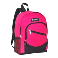 #6045S-HOT PINK Wholesale Mini Kids Slant Backpack - Case of 30 Backpacks