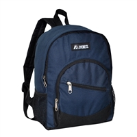 #6045S-NAVY Wholesale Mini Kids Slant Backpack - Case of 30 Backpacks