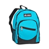 #6045S-TURQUOISE Wholesale Mini Kids Slant Backpack - Case of 30 Backpacks
