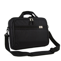 #766PU-BLACK Wholesale Slim Briefcase - Case of 20 Briefcases