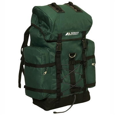 #8045D-GREEN Wholesale Hiking Backpack - Case of 10 Hiking Backpacks